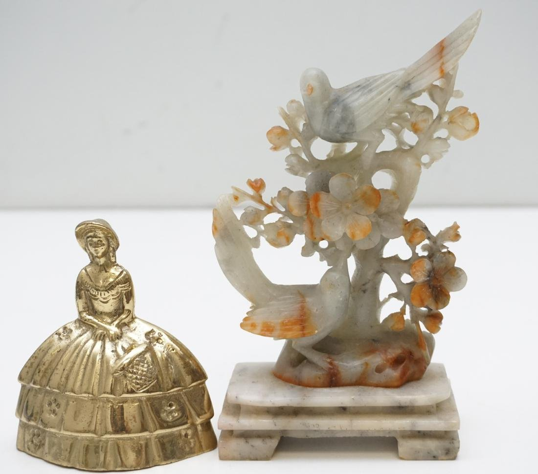 CHINESE CARVED AGATE BIRDS - 7