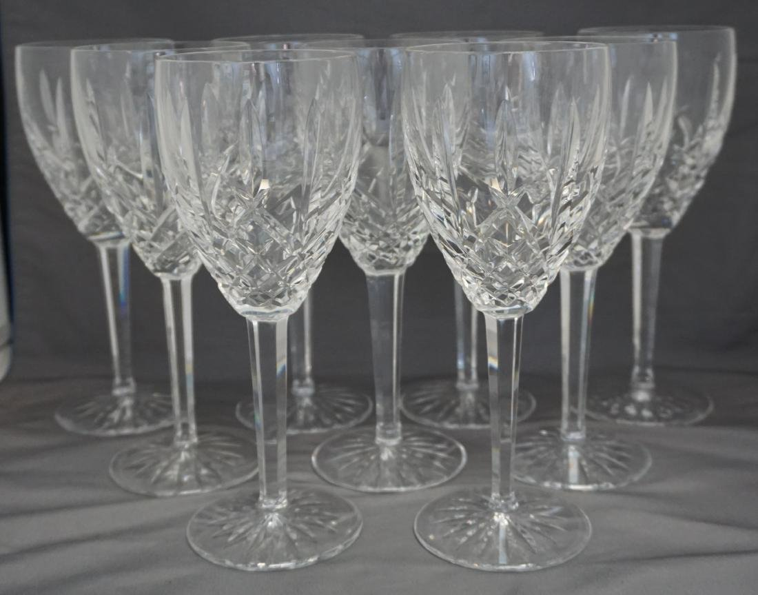 10 WATERFORD CRYSTAL ARAGLIN WATER GOBLETS - 2