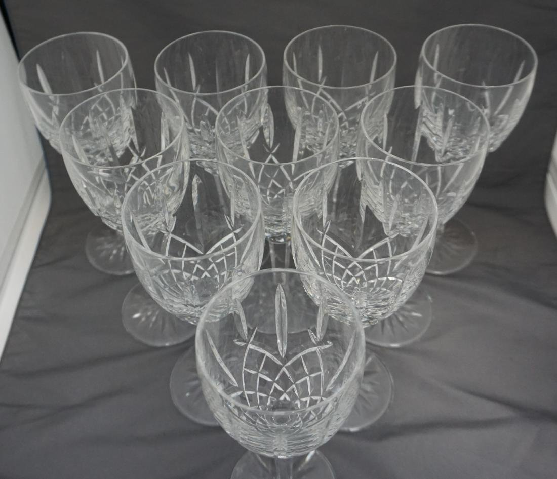 10 WATERFORD CRYSTAL ARAGLIN WATER GOBLETS - 4