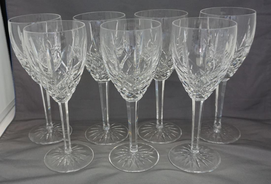 10 WATERFORD CRYSTAL ARAGLIN WATER GOBLETS - 5