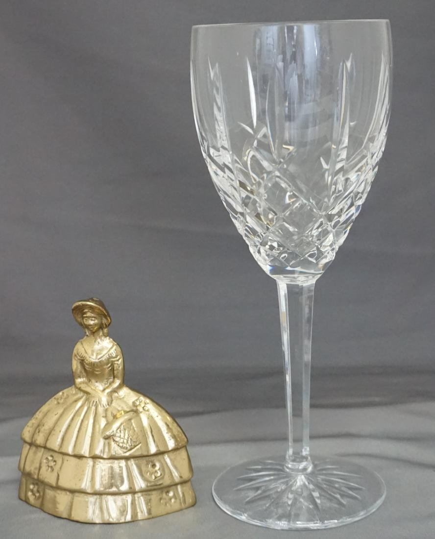 10 WATERFORD CRYSTAL ARAGLIN WATER GOBLETS - 7