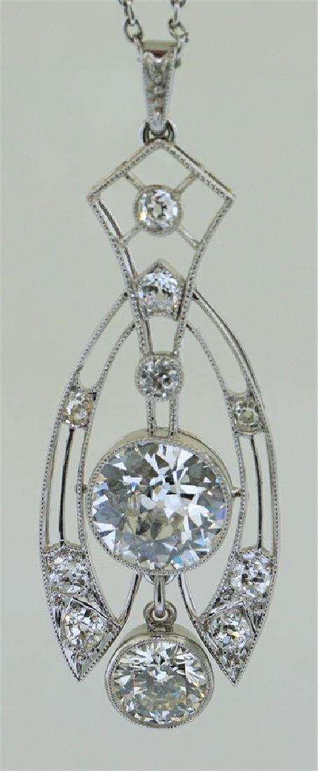 LARGE DIAMOND NECKLACE 2.60 CENTER - 3