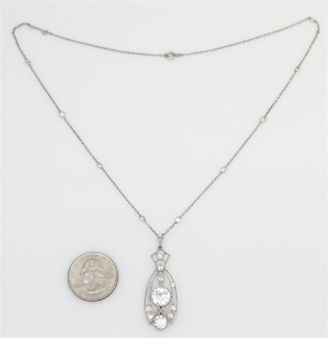 LARGE DIAMOND NECKLACE 2.60 CENTER - 4