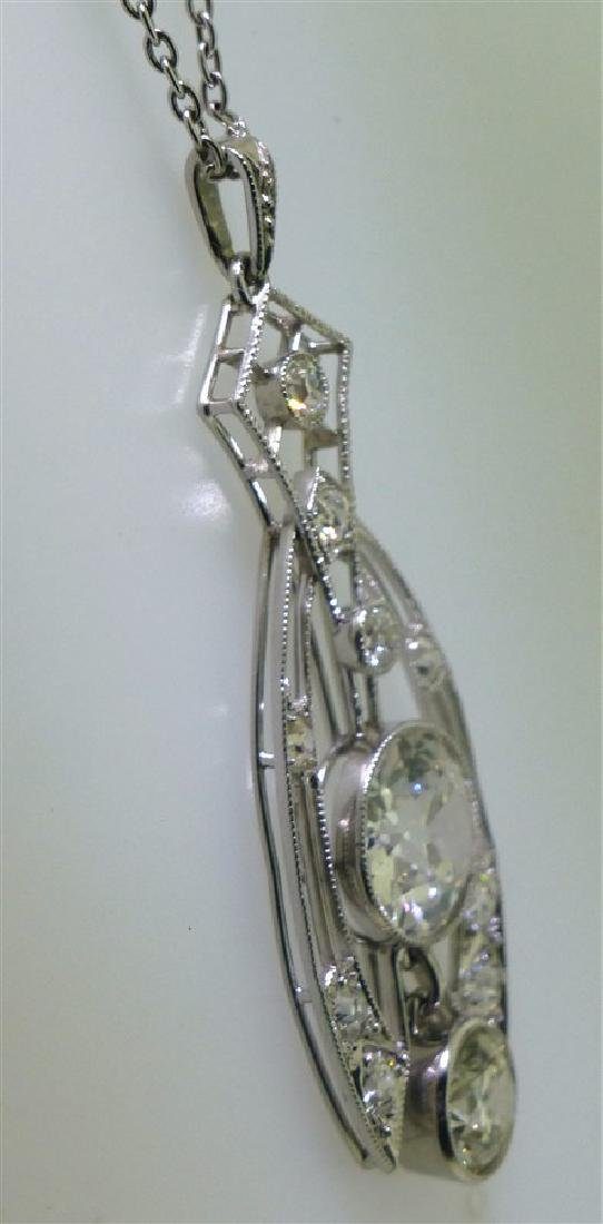 LARGE DIAMOND NECKLACE 2.60 CENTER - 6