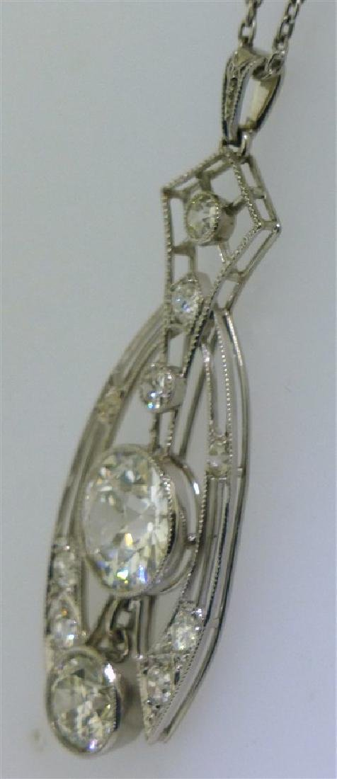 LARGE DIAMOND NECKLACE 2.60 CENTER - 7