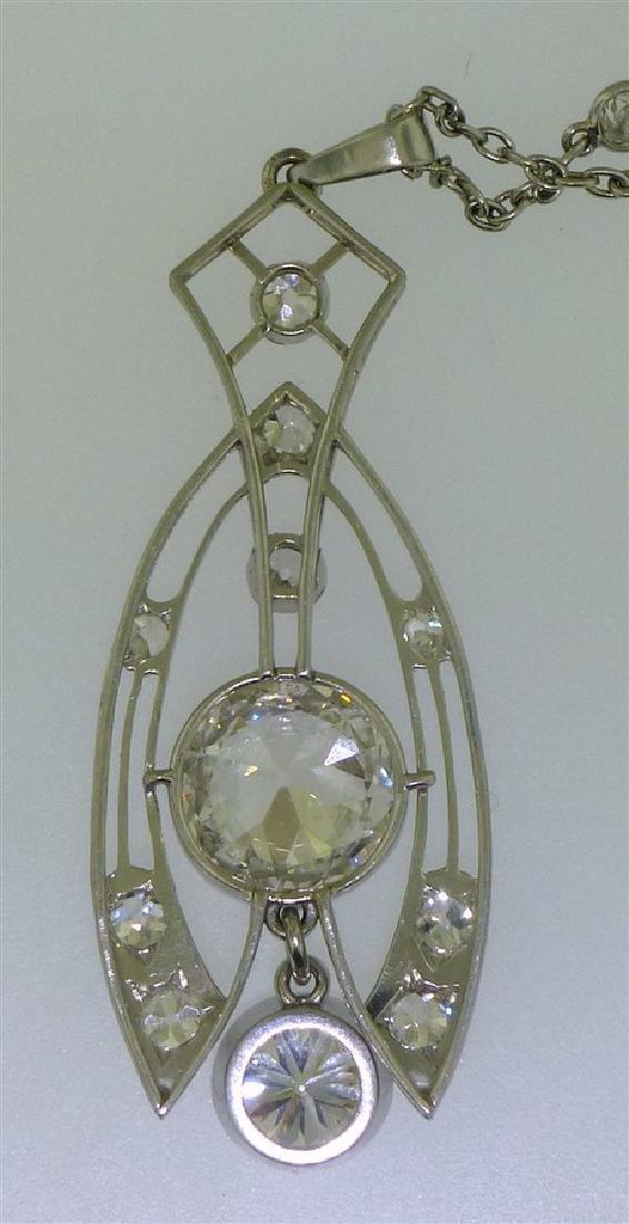 LARGE DIAMOND NECKLACE 2.60 CENTER - 8