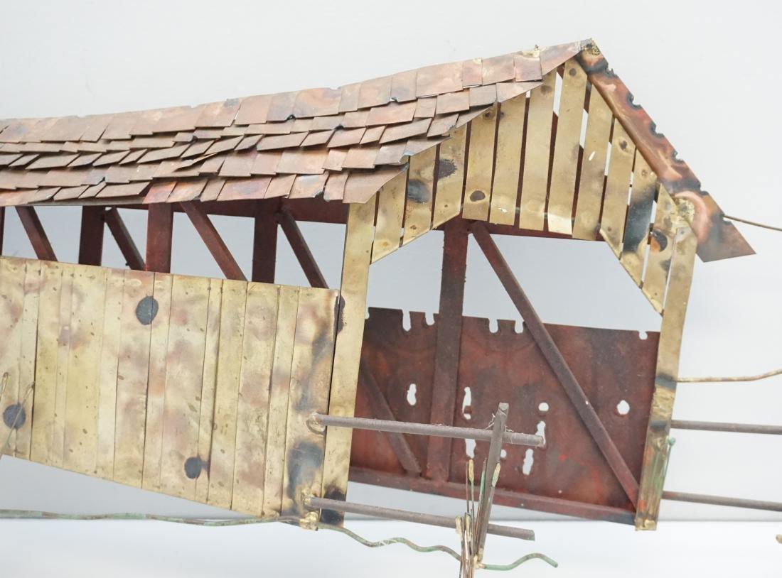 MID CENTURY C JERE COVERED BRIDGE - 3