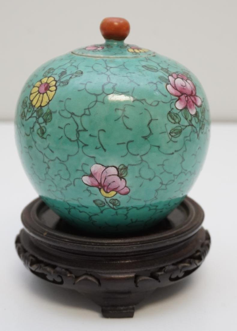 CHINESE QING POLYCHROME PORCELAIN JAR