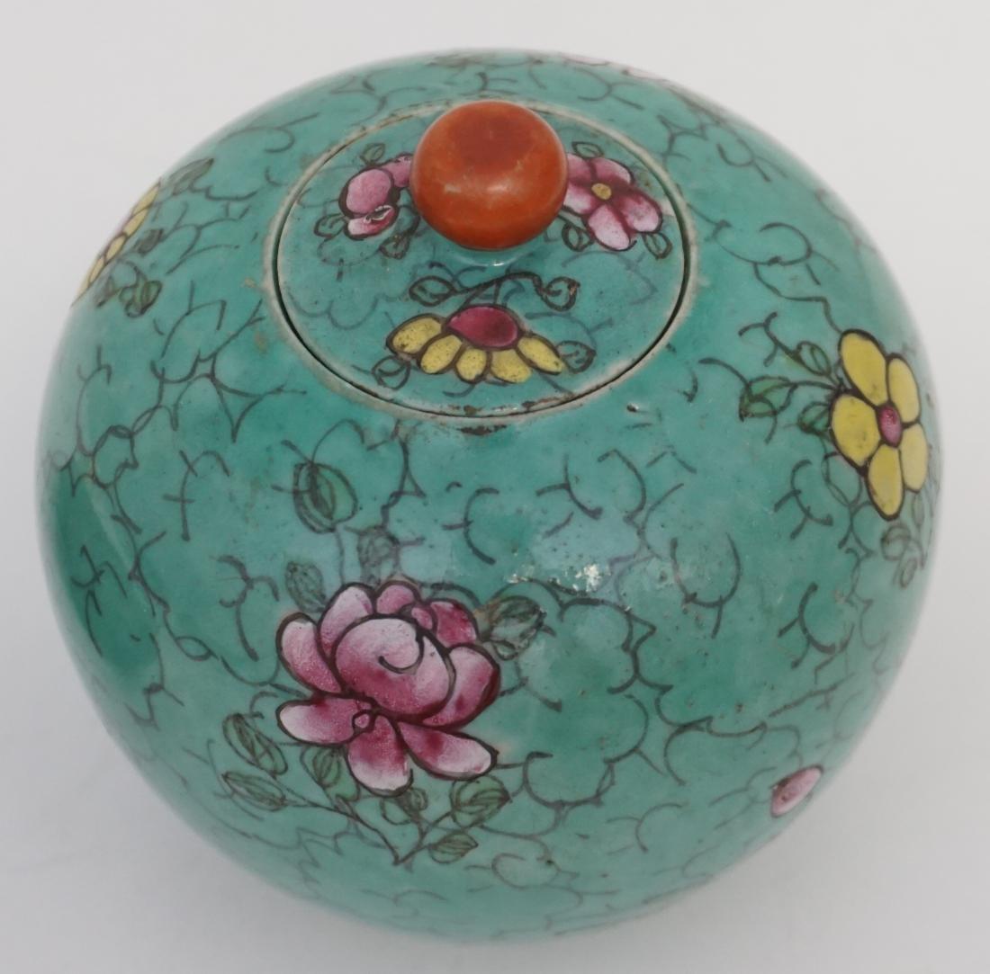 CHINESE QING POLYCHROME PORCELAIN JAR - 3