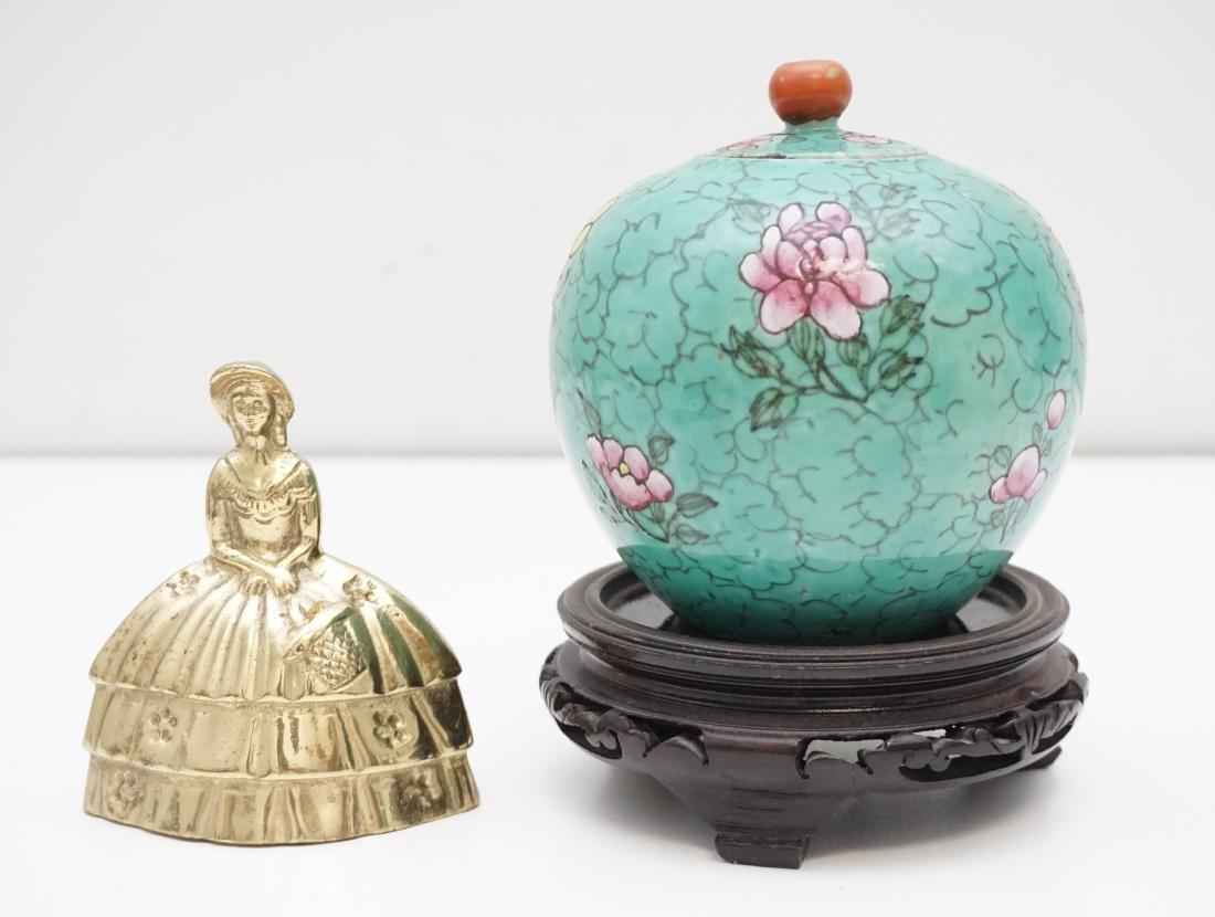CHINESE QING POLYCHROME PORCELAIN JAR - 8