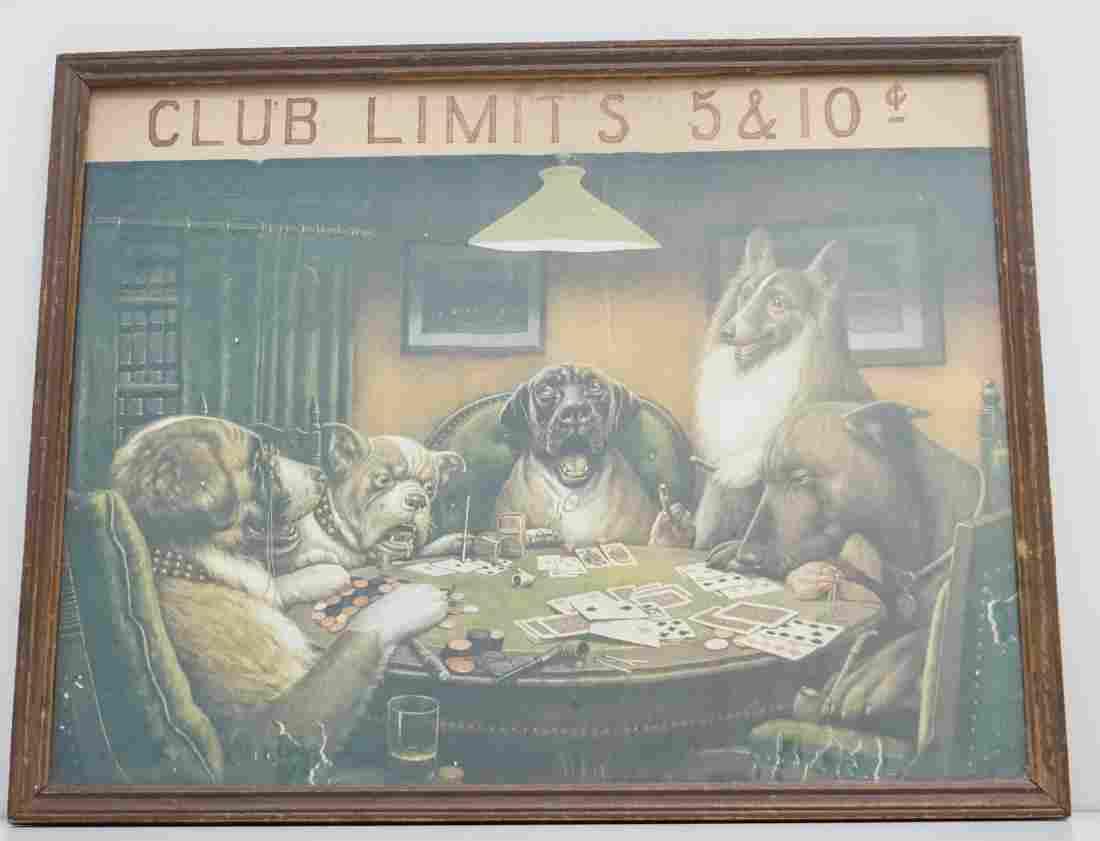 WATERLOO DOG POKER 1920S
