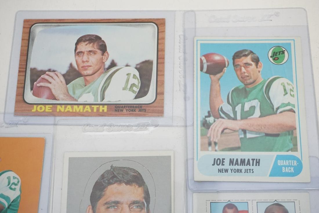 5 JOE NAMATH TOPPS 1960S CARDS - 2