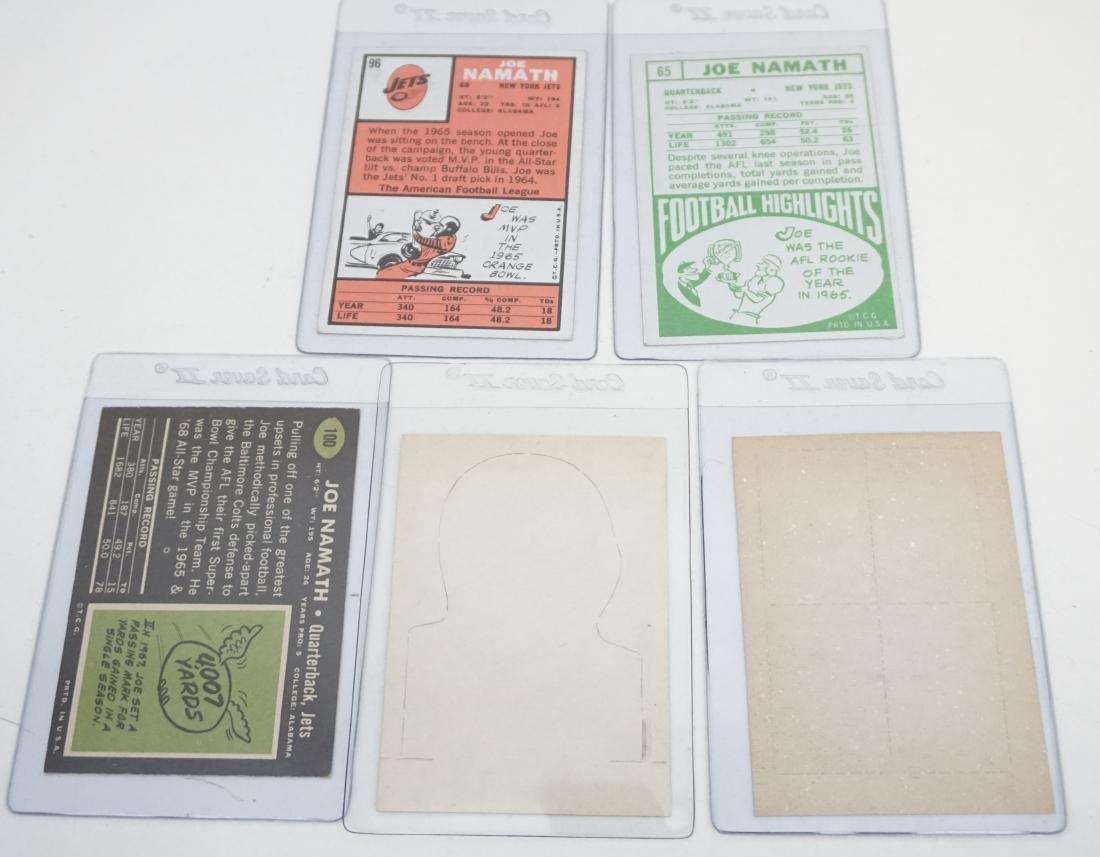 5 JOE NAMATH TOPPS 1960S CARDS - 5