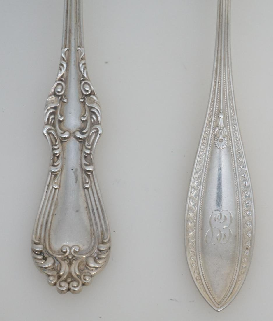 4 STERLING SILVER SERVING SPOONS - 2