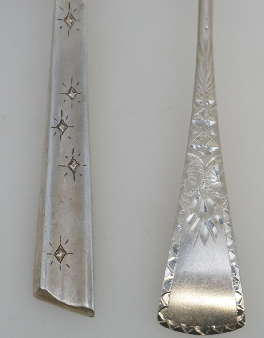 4 STERLING SILVER SERVING SPOONS - 3