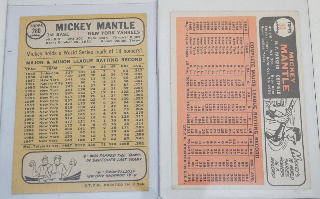 2 MICKEY MANTLE TOPPS 1966 & 1968 - 4