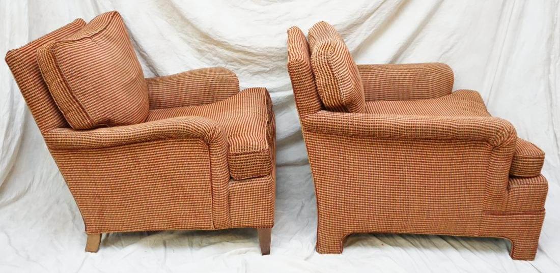 2 UPHOLSTERED CHAIRS WITH OTTOMAN - 3