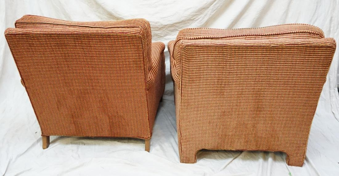2 UPHOLSTERED CHAIRS WITH OTTOMAN - 5