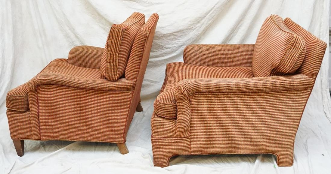 2 UPHOLSTERED CHAIRS WITH OTTOMAN - 6