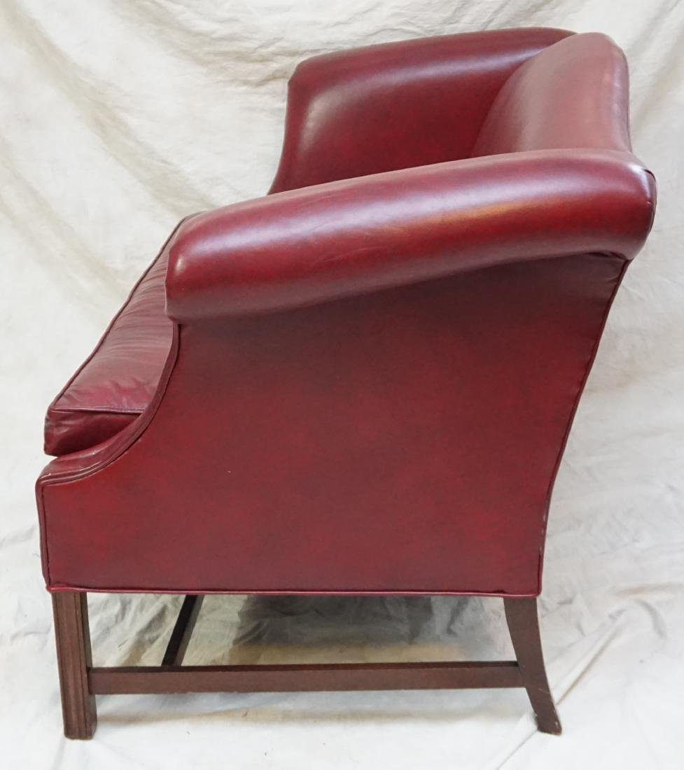 HANCOCK & MOORE LEATHER SETTEE - 3