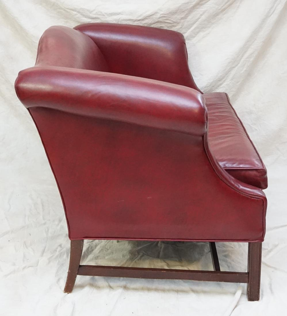 HANCOCK & MOORE LEATHER SETTEE - 5