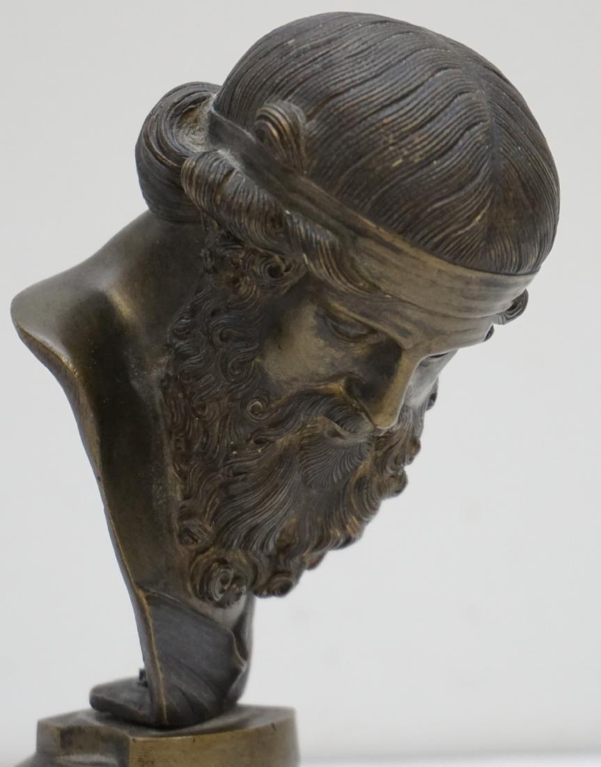BRONZE BUST GREEK PHILOSOPHER - 3