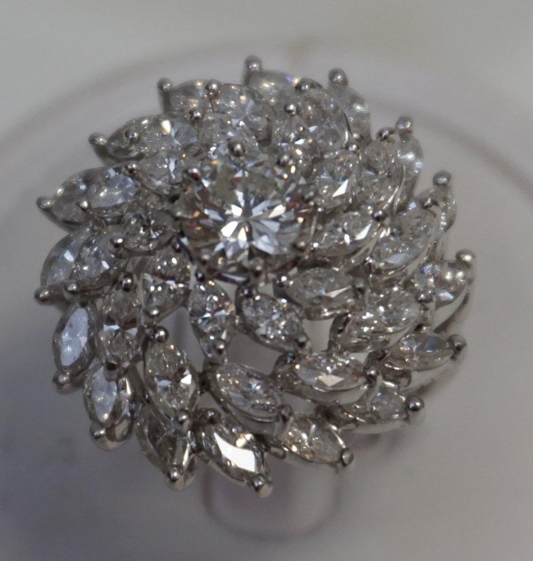 LARGE DIAMOND RING 6.95CTS - 2