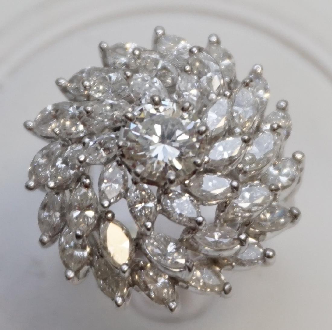LARGE DIAMOND RING 6.95CTS - 7