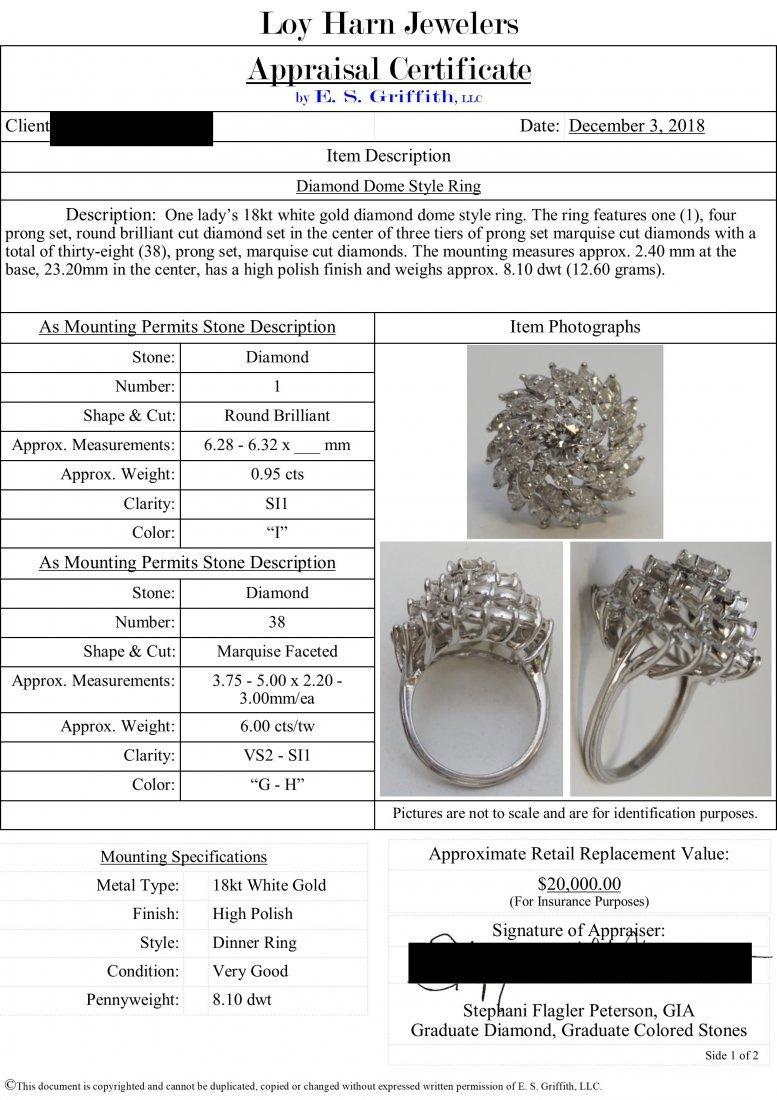 LARGE DIAMOND RING 6.95CTS - 9