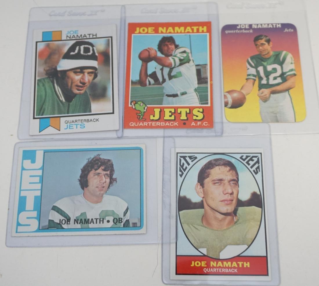 5 JOE NAMATH TOPPS CARDS