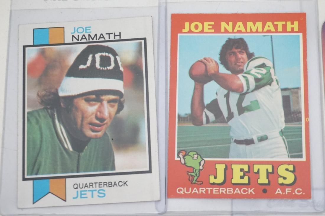 5 JOE NAMATH TOPPS CARDS - 2