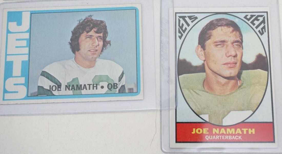 5 JOE NAMATH TOPPS CARDS - 4