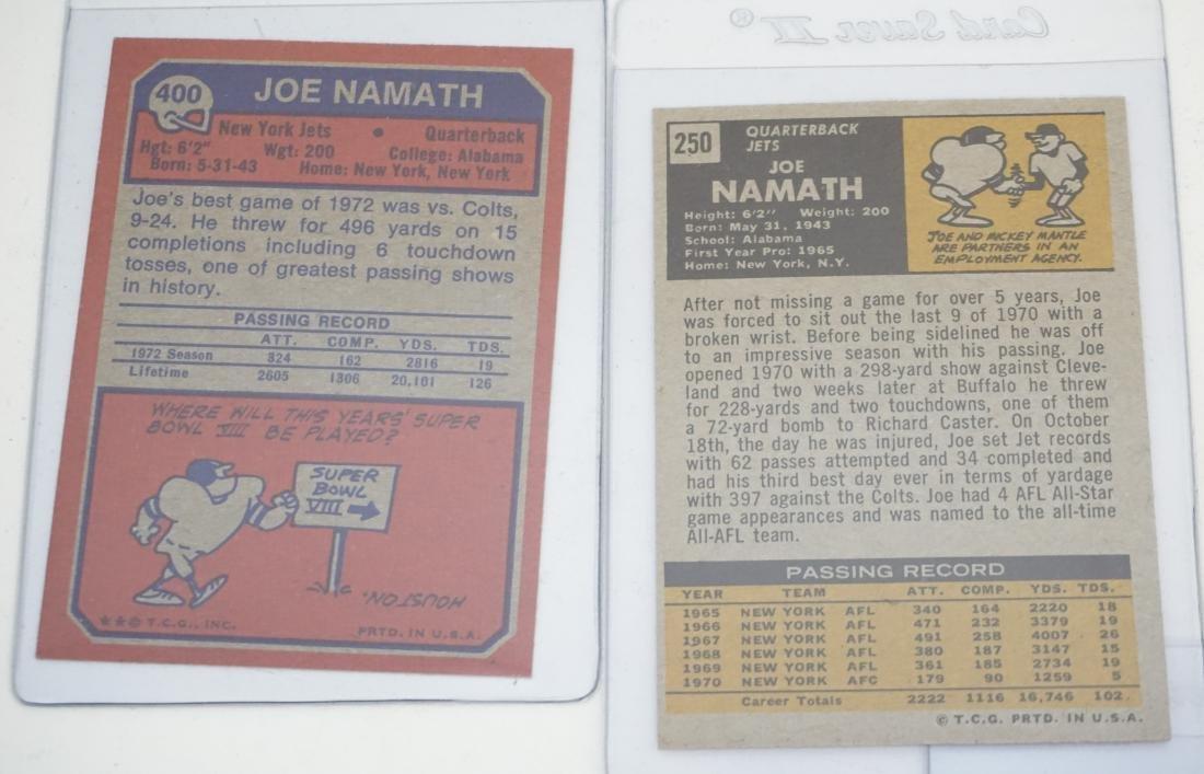 5 JOE NAMATH TOPPS CARDS - 6