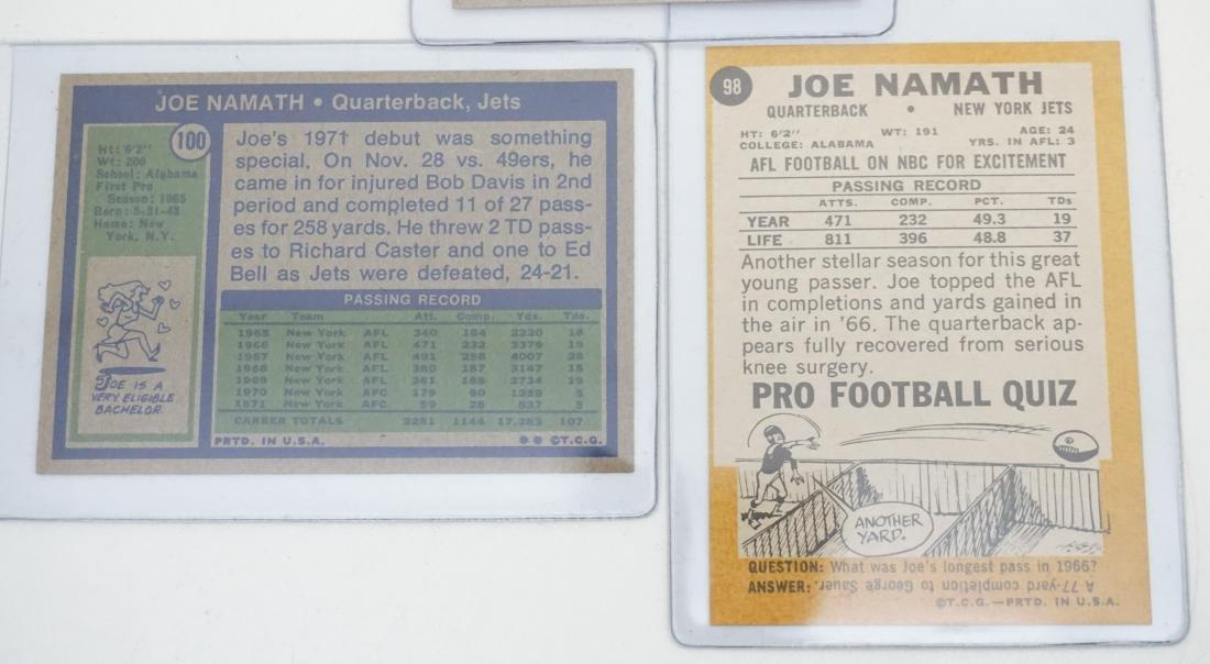 5 JOE NAMATH TOPPS CARDS - 7
