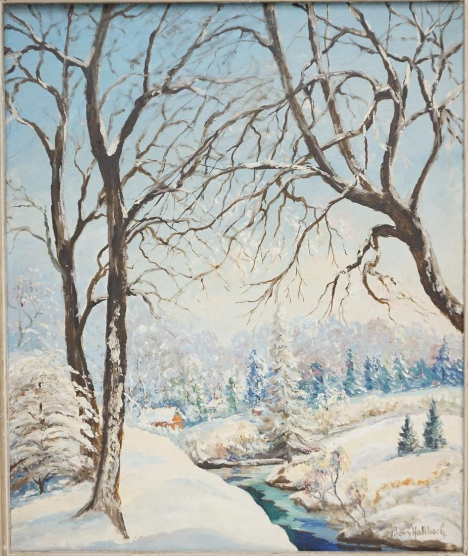 J. HENRY HALLBERG NY WINTER LANDSCAPE - 2