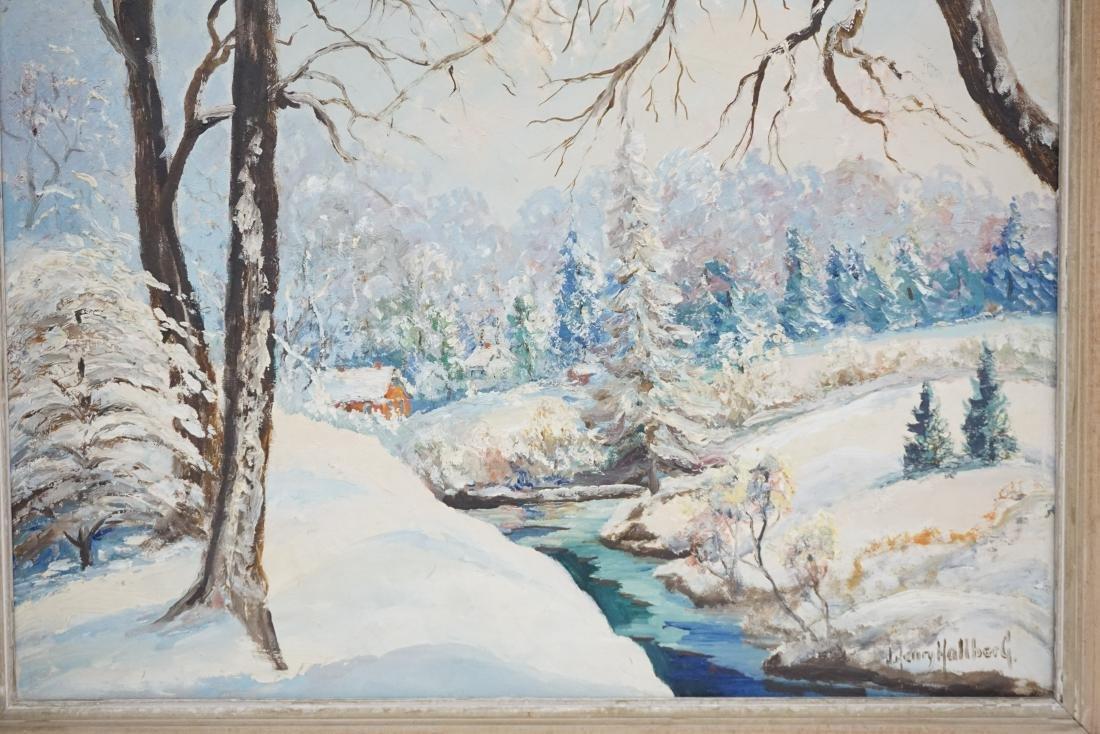 J. HENRY HALLBERG NY WINTER LANDSCAPE - 4