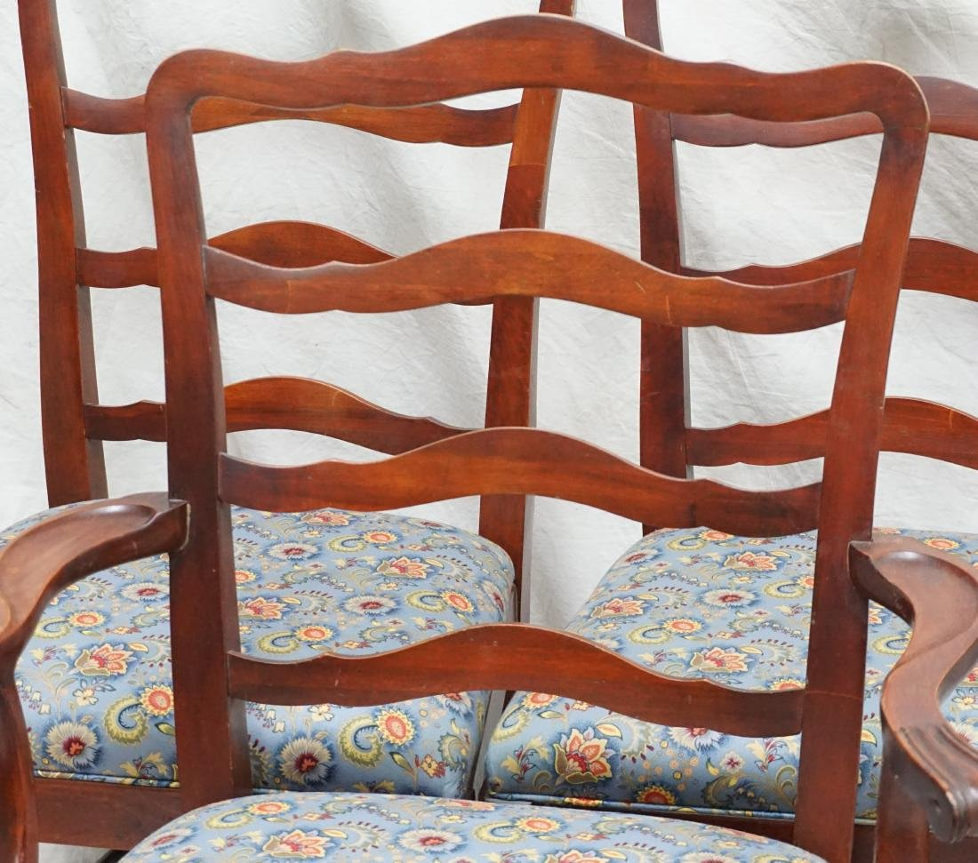 6 CHIPPENDALE STYLE LADDERBACK DINING CHAIRS - 2