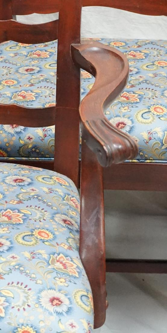 6 CHIPPENDALE STYLE LADDERBACK DINING CHAIRS - 3