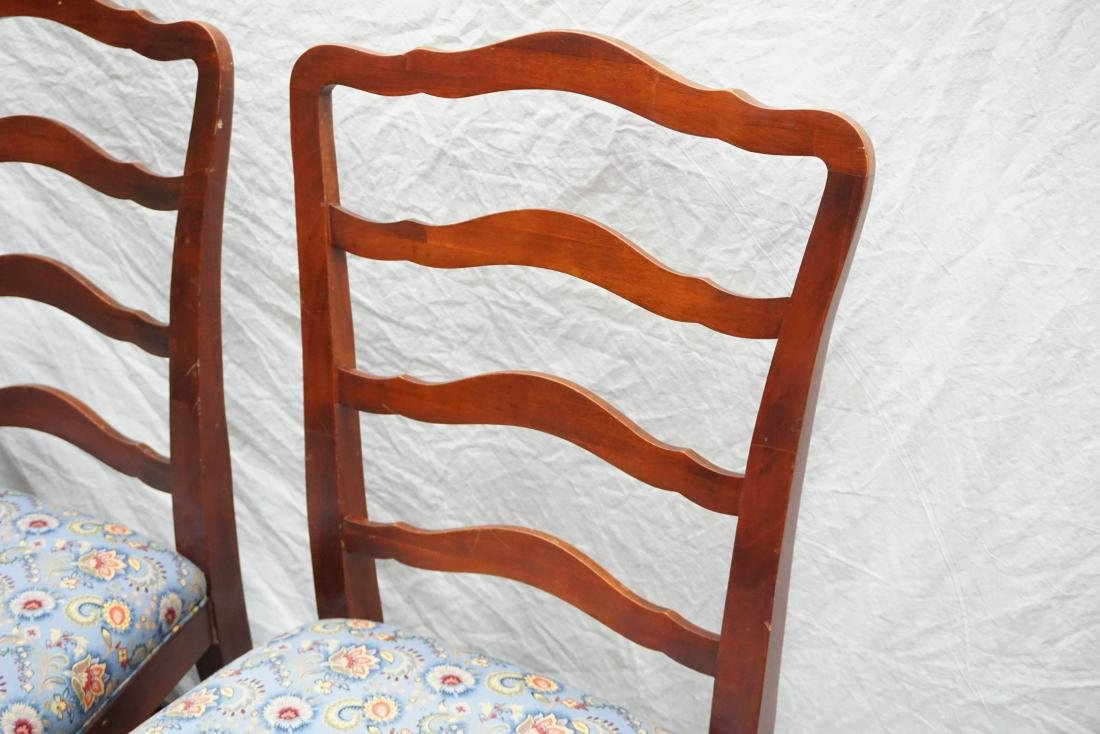 6 CHIPPENDALE STYLE LADDERBACK DINING CHAIRS - 4