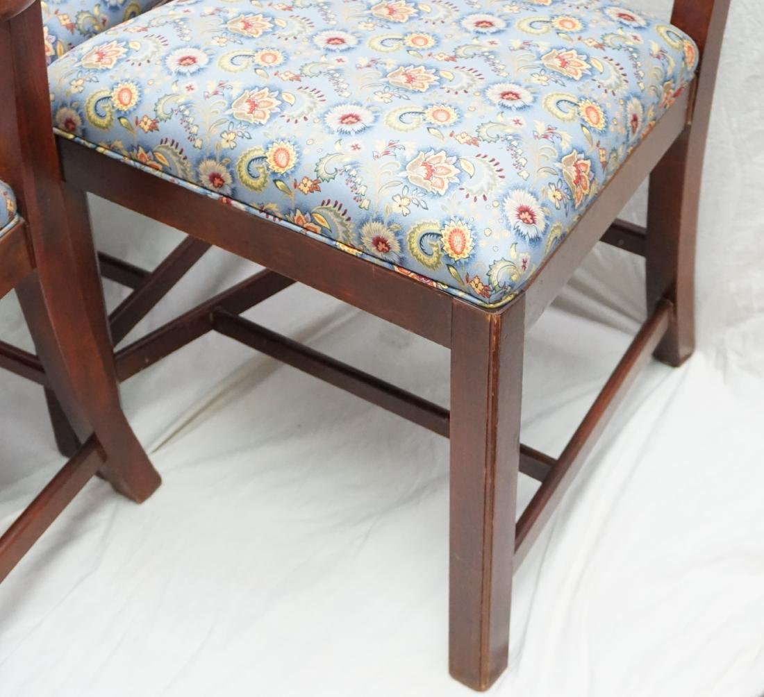 6 CHIPPENDALE STYLE LADDERBACK DINING CHAIRS - 5