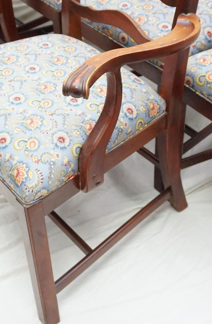 6 CHIPPENDALE STYLE LADDERBACK DINING CHAIRS - 6