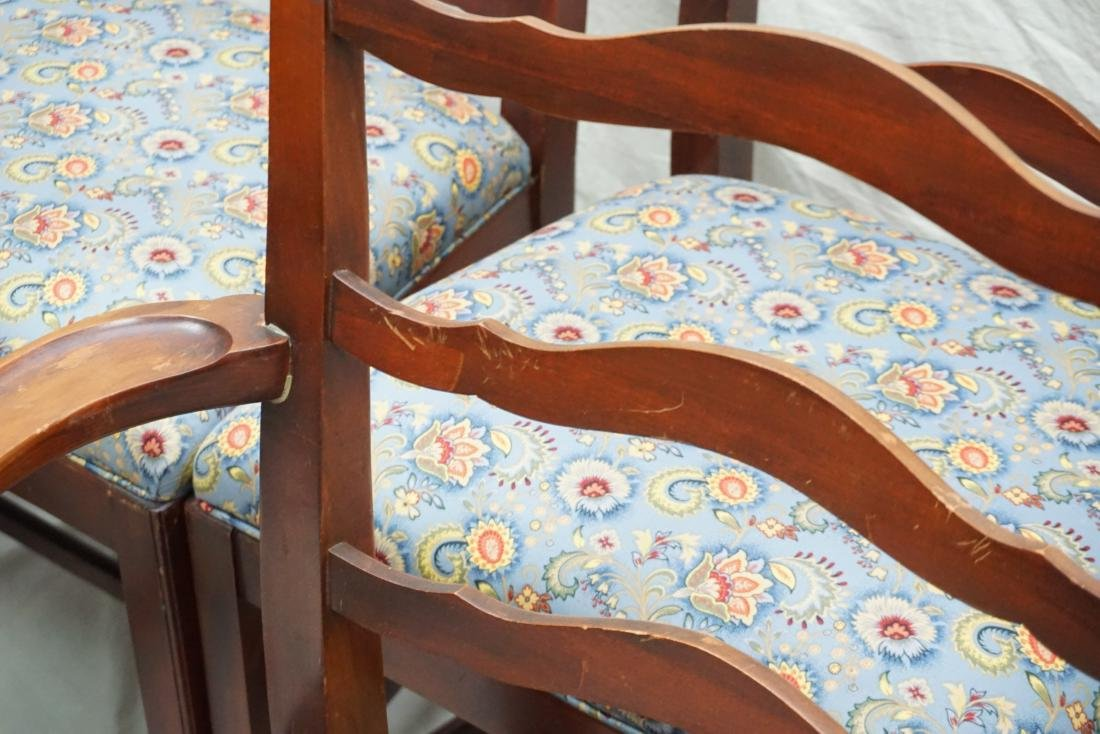 6 CHIPPENDALE STYLE LADDERBACK DINING CHAIRS - 7
