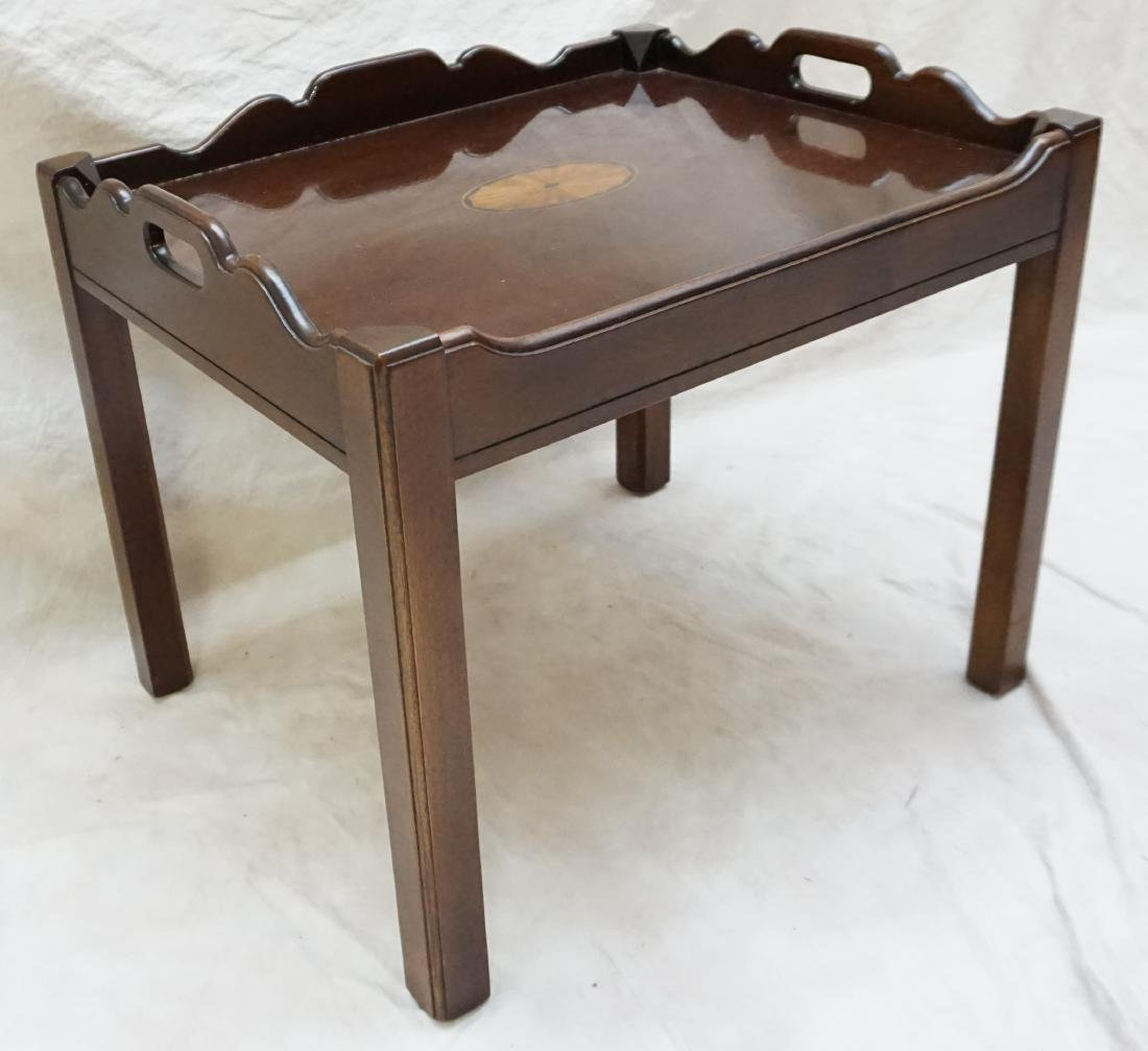 MAHOGANY INLAID SIDE TABLE - 3
