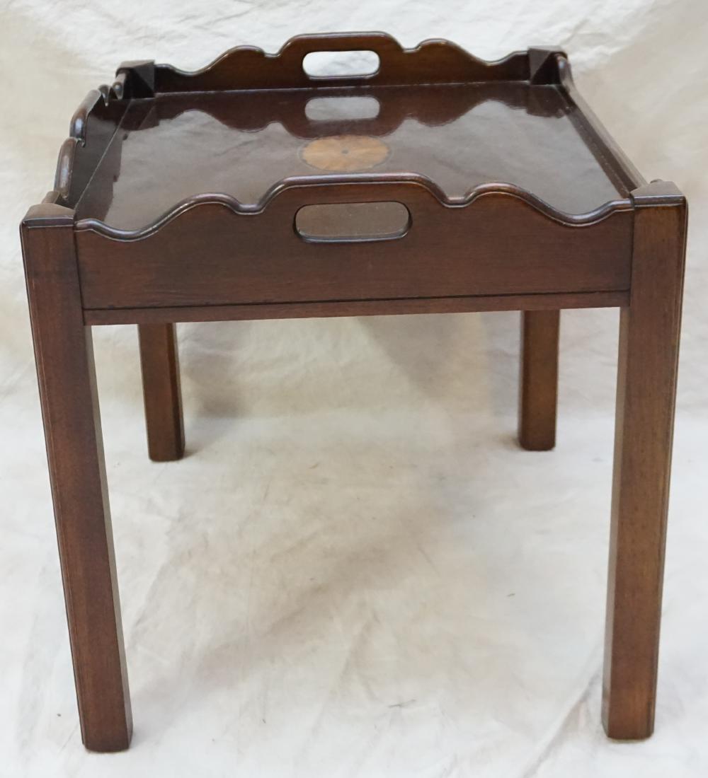 MAHOGANY INLAID SIDE TABLE - 4