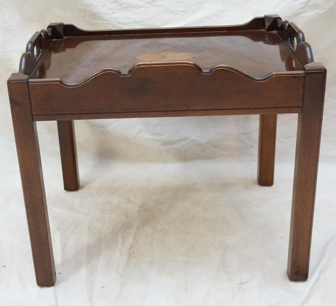 MAHOGANY INLAID SIDE TABLE - 5