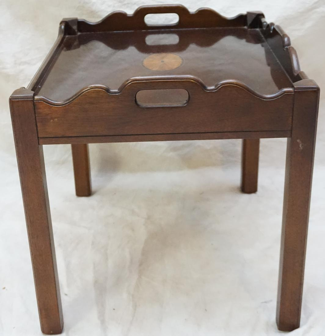 MAHOGANY INLAID SIDE TABLE - 6