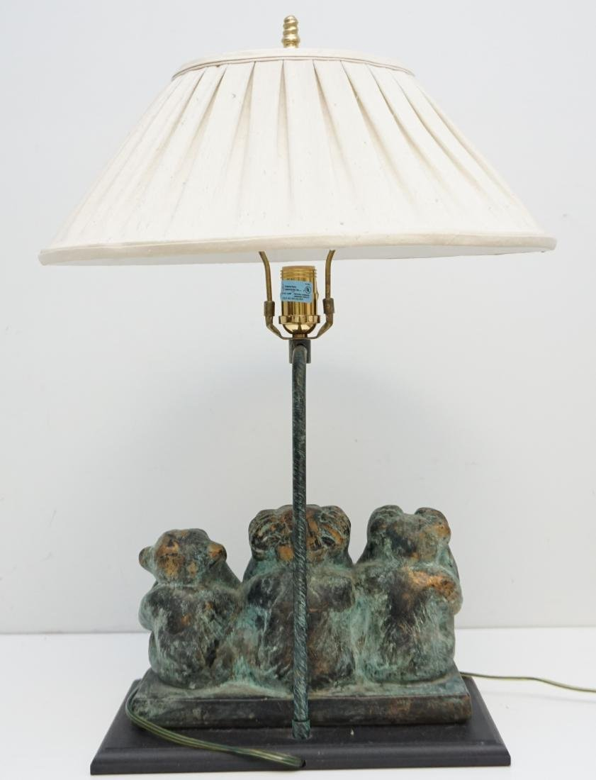 THREE WISE MONKEY TABLE LAMP - 6