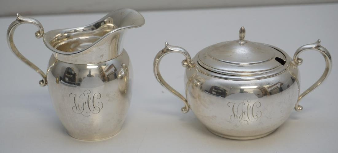 GORHAM STERLING CREAM & SUGAR PURITAN