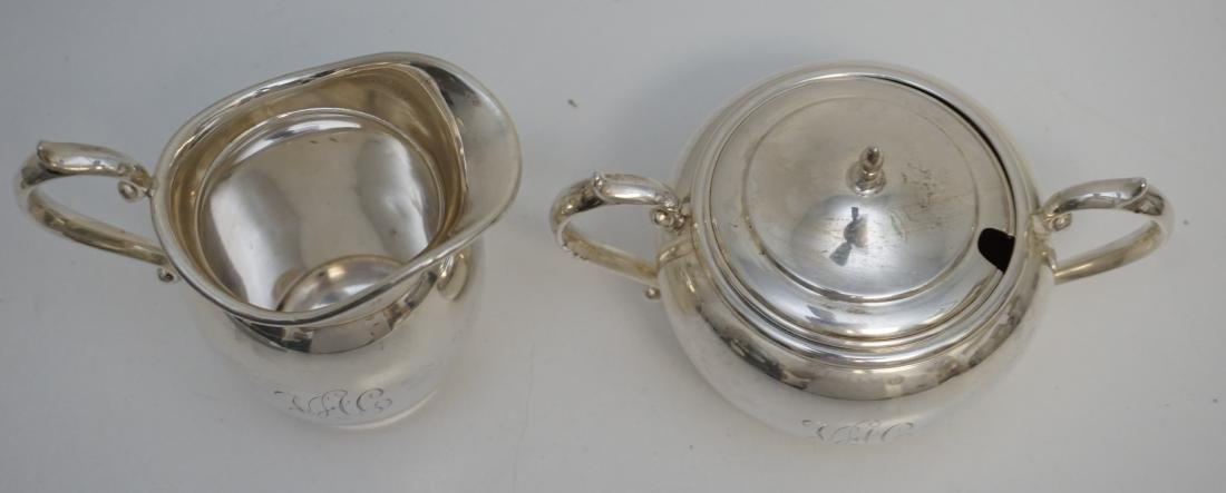 GORHAM STERLING CREAM & SUGAR PURITAN - 6