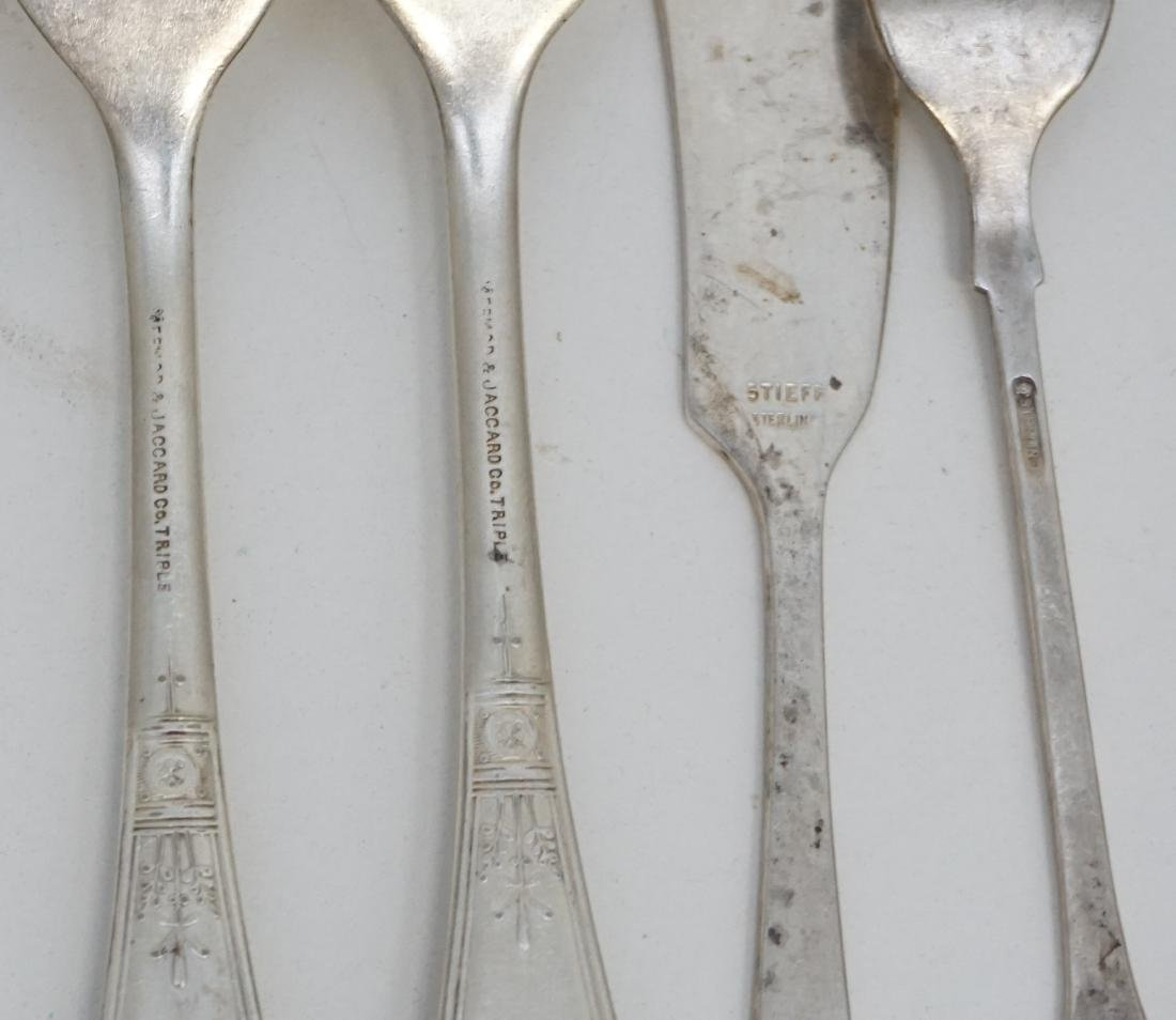 12 PC SILVER PLATE CARVING SET - FORKS + MORE - 6